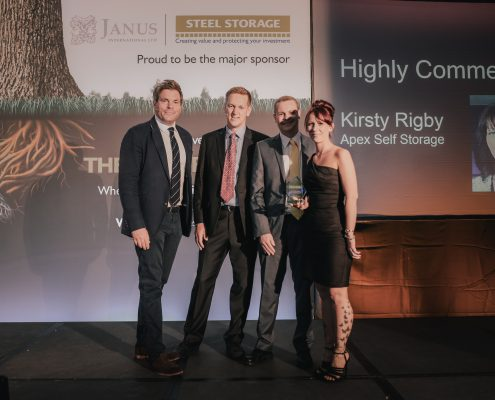 Kirsty Rigby Apex Self Storage accepting award