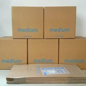 Medium packaging boxes