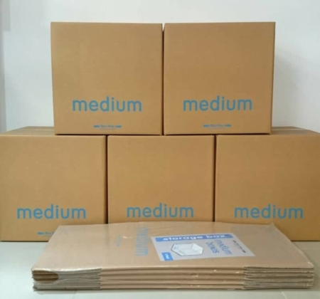 Medium packaging boxes