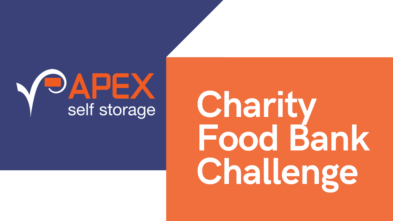 Charity Food Banks Challenge with Apex Logo