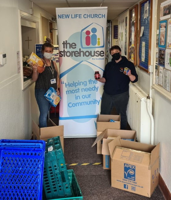 Apex Staff Donating to The Storehouse - Congleton's Local Food Banks
