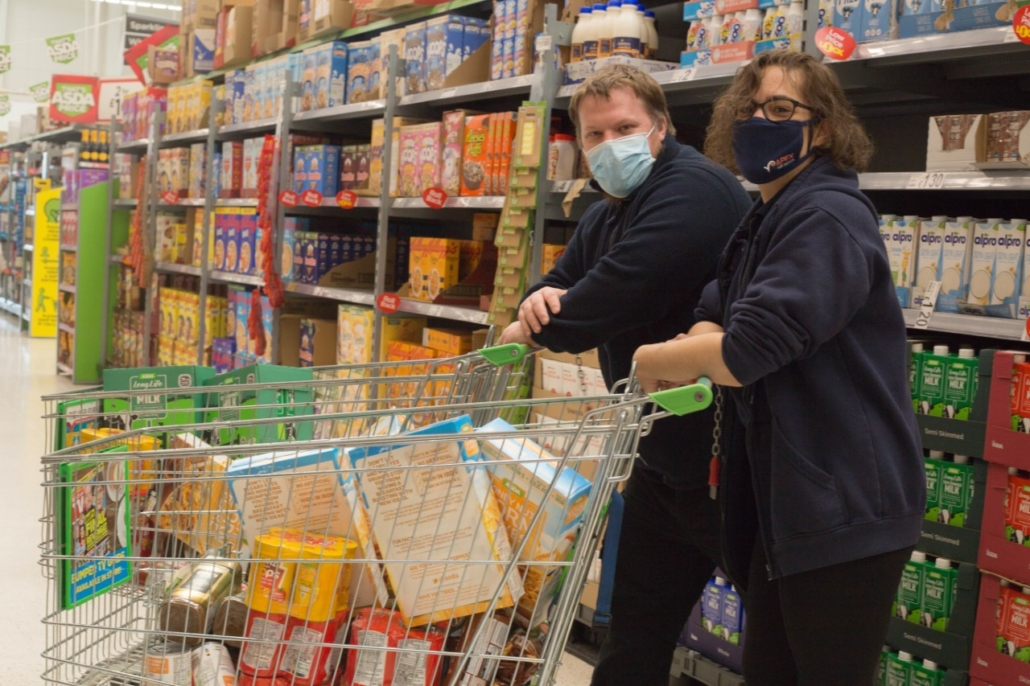 Apex Staff Buying items for Local Food Banks From Asda